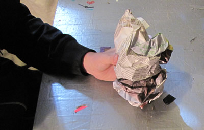 Duck Tape Potato Toy Step 1